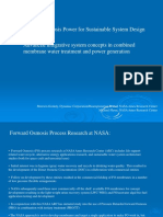 Forward Osmosis Power for Sustainable System Design