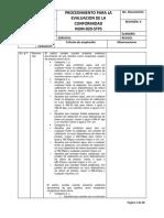 Evaluación Conformidad NOM 020 2011