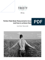 Perfect Male Body Measurements According to Height (and How to Achieve Them) - Trusty Spotter