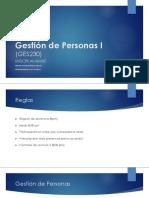Gestión de Personas I-Clase 1-InTRODUCCION