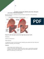 Placenta Abruptio