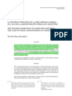 Menendez - Multiple Dimension de La Precariedad Laboral - 2010