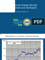 Sub Metering Energy Savings Measurement and Verification