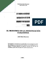 MUESTREO EN LA INVESTIGACION CUALITATIVA