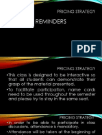 Grading Policy PRICING STRATEGY. 2pptx