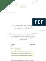 Atentados de Direita Fomentaram AI-5 - Agência Pública