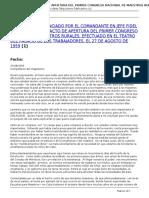 Fidel Soldado de Las Ideas - Discurso en El Acto de Apertura Del Primer Congreso Nacional de Maestros Rurales - 2014-08-27
