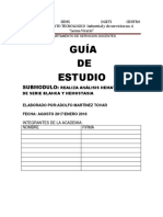Guia Realiza Analisis Hematologicos de Serie Blanca y Hemostasia