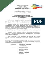 Eo Reorganization of Bdc Rev.