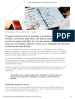 Restituição de tributos fiscais em clínicas médicas - Badaró Almeida.pdf