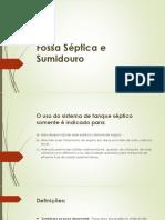 Fossa Séptica e Sumidouro