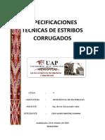 Especificaciones Tecnicas de Estribos Corrugado