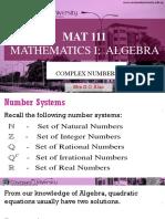 Mat111 Complex