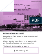 Integrate by Parts