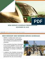 SMART New Service Schedule Presentation