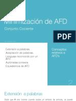 Conjunto Cociente Minimización AFD