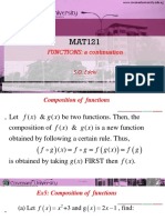 Mat121 Lecture Note on Composite Inverses of Functions