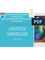 1. Concepto de Hidrogeología