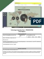 technology integration template-presentation brett migliore  1