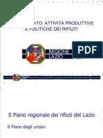 Presentazione Piano Rifiuti Regione Lazio