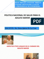 PLAN NACIONAL DE PERU DEL ADULTO MAYOR