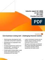 CEO presentation of Q1 2008 results