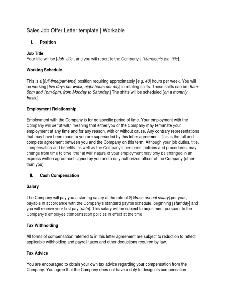 Sales Offer Letter Sample from imgv2-2-f.scribdassets.com