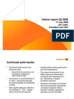CEO presentation of Q2 2008 results