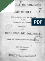 1823 memoria secretario de estado