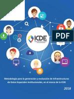 Metodología Para La Generación y Evaluación de Infraestructuras de Datos Espaciales Institucionales, En El Marco de La ICDE_2018