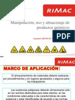 Manipulación, Uso y Almacenaje de Productos Químicos