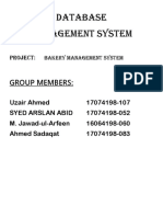 Bakery Management System Project(Final)