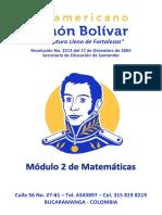 MODULO DE MATEMÁTICAS