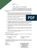 Joint Affidavit of Co-ownership