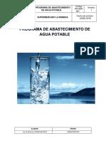 plan de tratamiento de agua potable