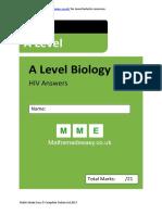 HIV as Biology Answers AQA