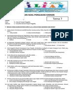 Soal Tematik Kelas 4 SD Tema 8 Subtema 2 Keunikan Daerah Tempat Tinggalku d