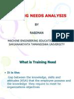 PERT 2 Training Need Analisis