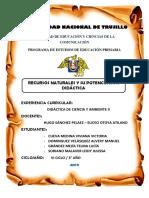 Informe de Recursos Naturales y Su Portenciación Didactica (1)