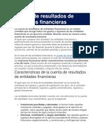 Cuenta de Resultados de Entidades Financieras