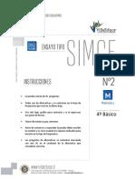 ENSAYO SIMCE MATEMATICAS 4° BASICO