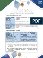 Guía de actividades y rúbrica de evaluación- Post-Tarea- Prueba objetiva abierta (POA)