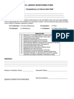 Library Hub Monitoring Form