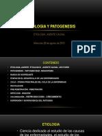 Etiología y patogénesis  Ing. M. Sc. Víctor Zenteno