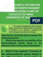 Species Richness, Distribution Pattern and Morphotaxonomy of Ethnomedicinal Plants in Two Selected Tribal Communities of Bukidnon.