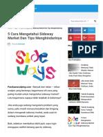 5 Cara Mengetahui Sideway Market