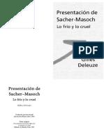 Deleuze Presentacion de Sacher Masoch PAGS Bklt