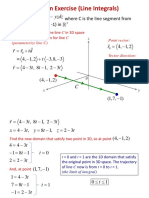 Solution Exercise (Line Integrals)