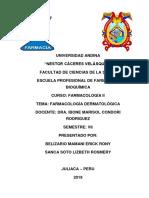 FARMACOLOGIA DERMATOLOGICA