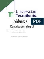 Comunicacion Integral 2do Semestre Evidencia 3